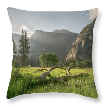 Sundown On The Valley Throw Pillow by Ryan Weddle