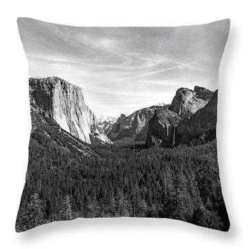 Yosemite B/w Throw Pillow