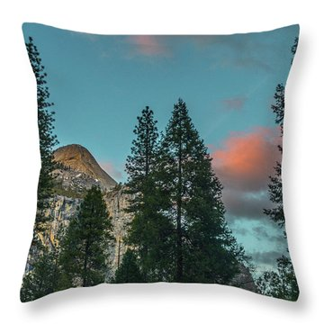 Yosemite Campside Evening Throw Pillow