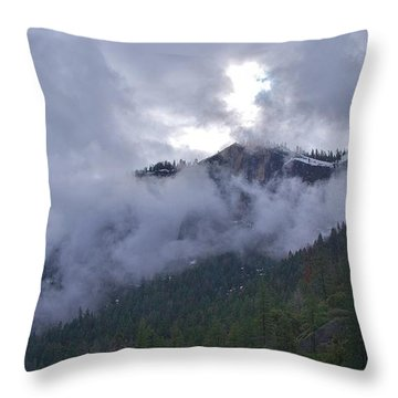 Throw Pillow featuring the photograph Yosemite Clouds Bbbbbbbbbbbb by Phyllis Spoor