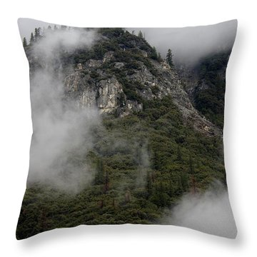 Throw Pillow featuring the photograph Yosemite Clouds by Phyllis Spoor
