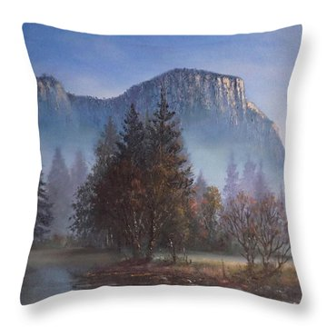 Yosemite Dawn Throw Pillow by Sean Conlon