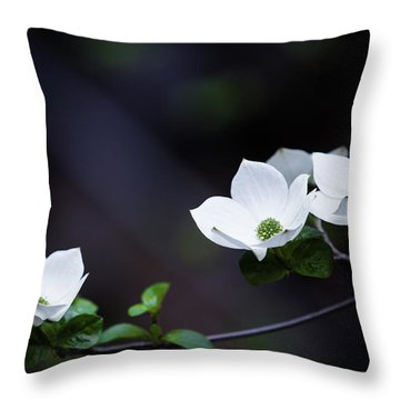 Yosemite Dogwoods Throw Pillow