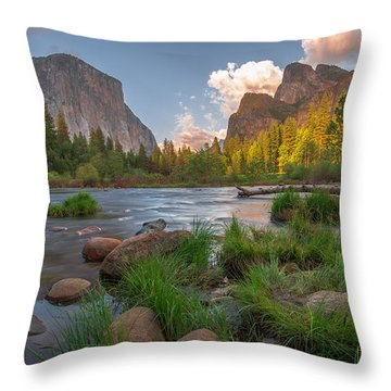 Yosemite Evening Throw Pillow