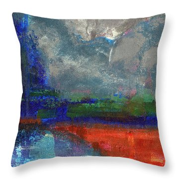 Yosemite Fall Reflections  Throw Pillow