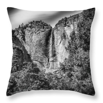 Throw Pillow featuring the photograph Yosemite Falls by Chris Cousins