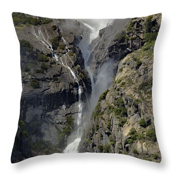 Yosemite Falls From The Four Mile Trail Throw Pillow