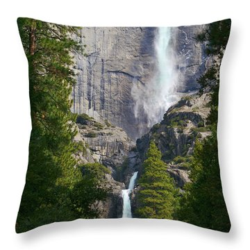 Yosemite Falls Throw Pillow