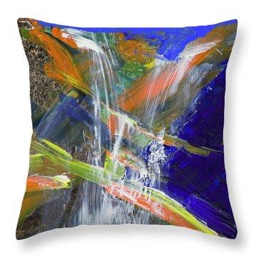 Yosemite Falls Summer Trickle  Throw Pillow