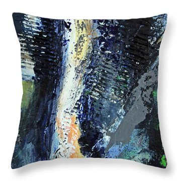Throw Pillow featuring the painting Yosemite Falls by Walter Fahmy