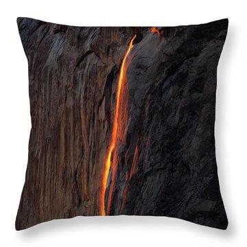 Yosemite Fire Falls - 2016 Throw Pillow
