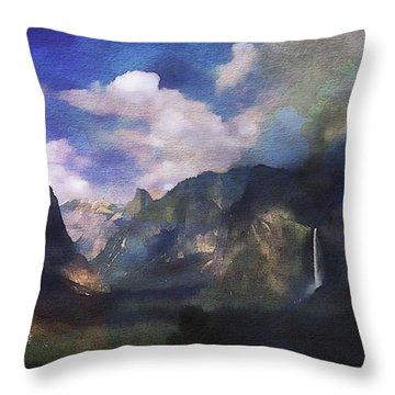 Yosemite H2o Color Throw Pillow