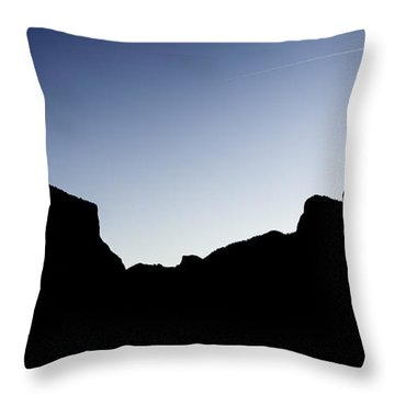 Yosemite In Silhouette Throw Pillow