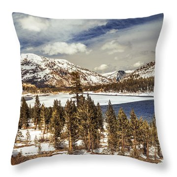 Yosemite Melts Into Spring Throw Pillow