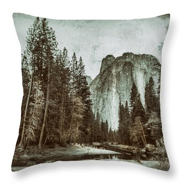 Yosemite National Park Throw Pillow by James Bethanis