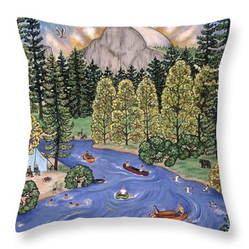 Yosemite National Park Throw Pillow by Linda Mears
