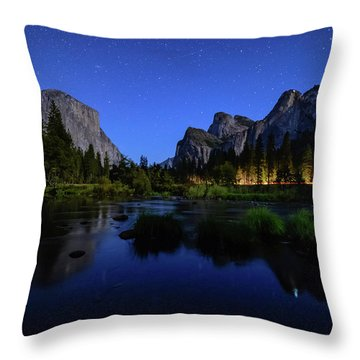 Yosemite Nights Throw Pillow