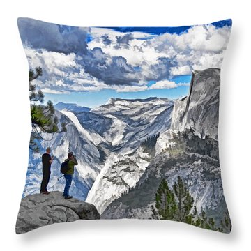 Yosemite Overlook Throw Pillow by Dennis Cox WorldViews