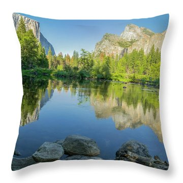 Yosemite Throw Pillow by RC Pics