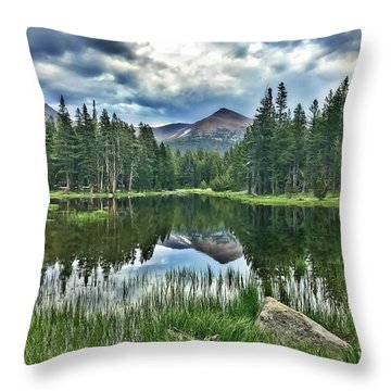 Yosemite Reflection Throw Pillow