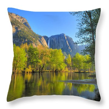 Throw Pillow featuring the photograph Yosemite Reflections by Kim Wilson