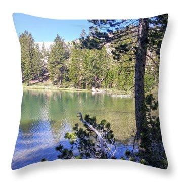 Yosemite Lake Throw Pillow
