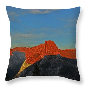 Throw Pillow featuring the photograph Yosemite Summer Sunset Abstracted 1 by Walter Fahmy