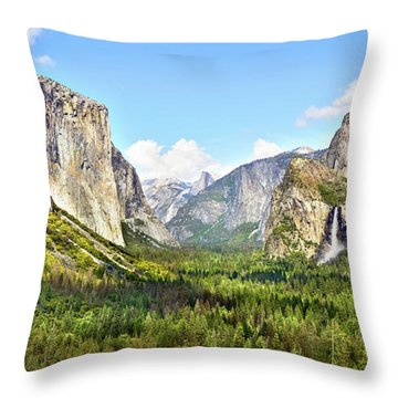 Yosemite Tunnel View Afternoon Throw Pillow