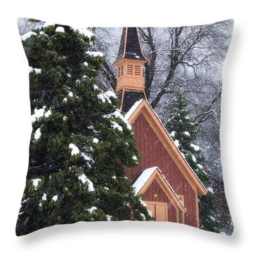 Yosemite Valley Chapel  Throw Pillow
