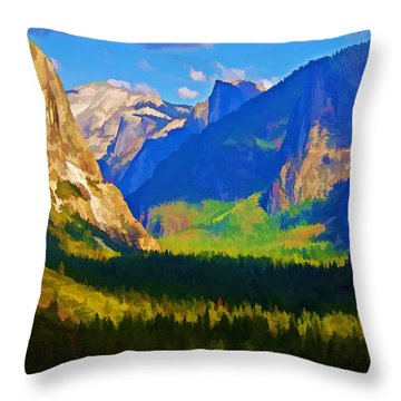 Yosemite Valley Throw Pillow by Dennis Cox WorldViews