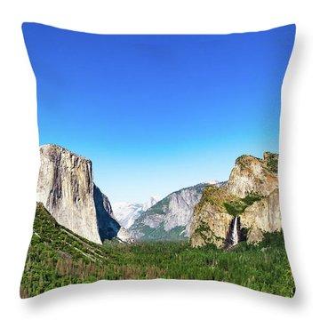 Yosemite Valley- Throw Pillow