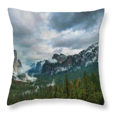 Yosemite Valley Storm Throw Pillow