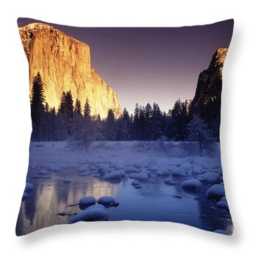 Yosemite Valley Sunset Throw Pillow by Michael Howell - Printscapes