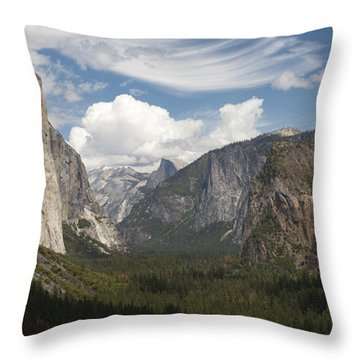 Throw Pillow featuring the photograph Yosemite Valley - Tunnel View by Harold Rau
