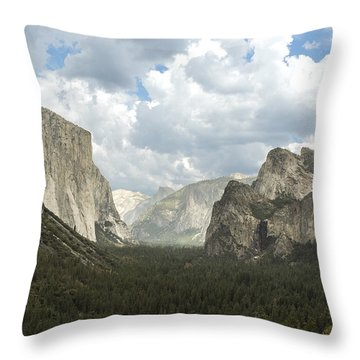 Yosemite Valley Yosemite National Park Throw Pillow