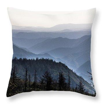 Yosemite View 27 Throw Pillow