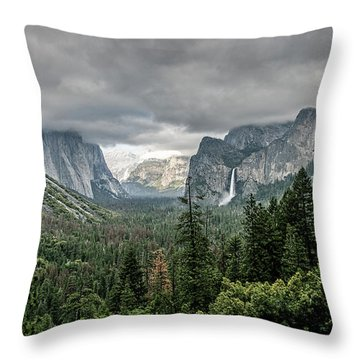 Yosemite View 36 Throw Pillow