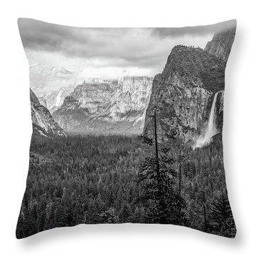 Yosemite View 38 Throw Pillow