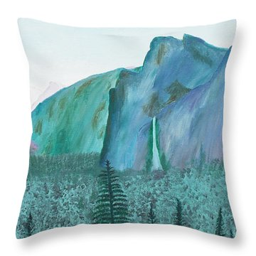 Yosemite View Throw Pillow