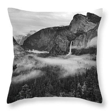 Yosemite Wawona Cloudscape Throw Pillow