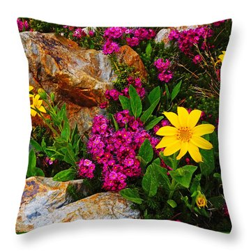 Yosemite Wildflowers Throw Pillow