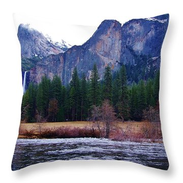 Throw Pillow featuring the photograph Yosemitie Valley by Phyllis Spoor