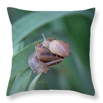 You And Me Kid Throw Pillow by Suzanne Oesterling
