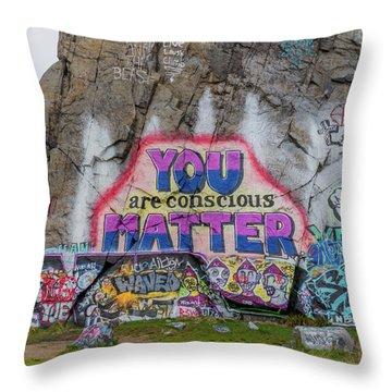 You Are Conscious Matter Throw Pillow