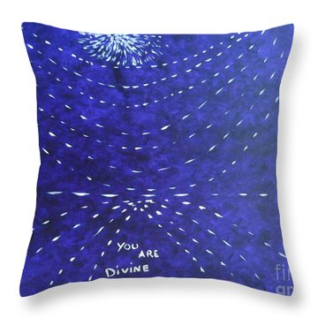 You Are Divine Throw Pillow by Piercarla Garusi