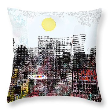 You Are Here  Throw Pillow by Andy  Mercer