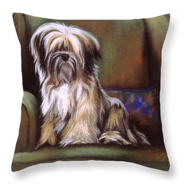 You Are In My Spot Again Throw Pillow by Barbara Keith