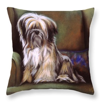You Are In My Spot Again Throw Pillow