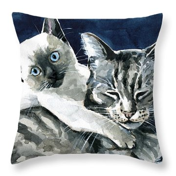 You Are Mine - Cat Painting Throw Pillow