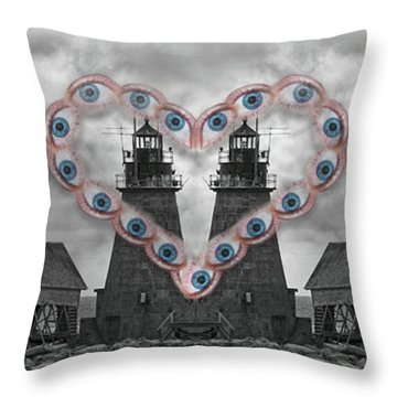 You Are My Lighthouse Throw Pillow